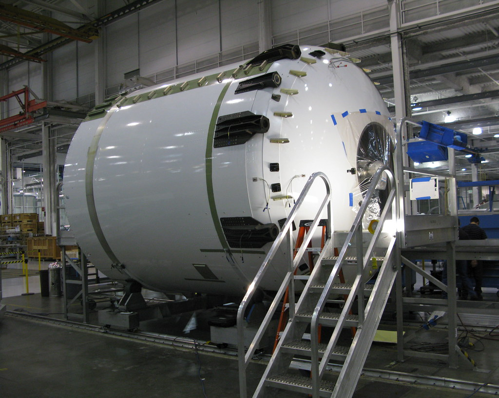 Falcon 9 Upper Stage.  Example of a rocket part (SpaceX) using an industrial turbine.